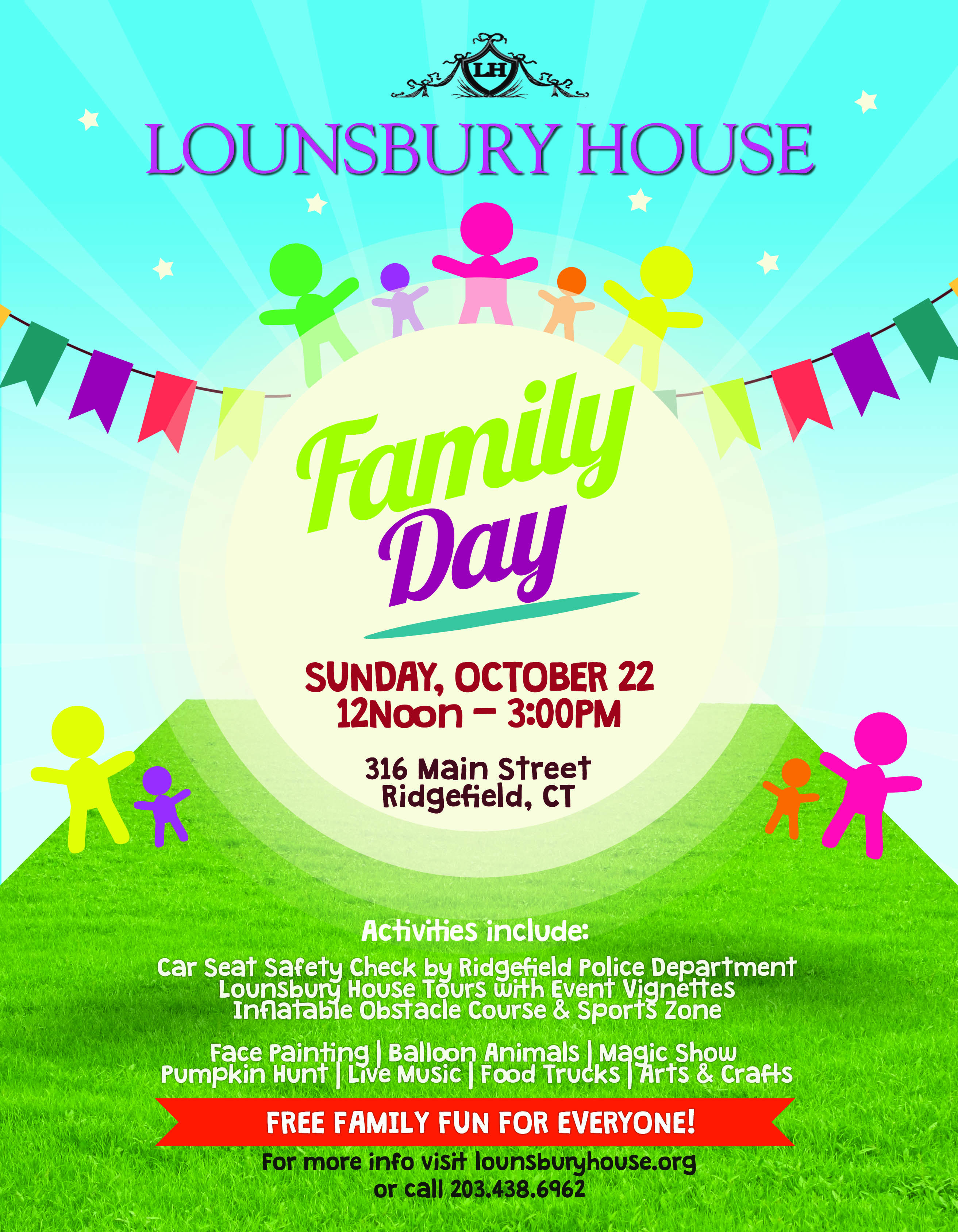 3rd annual family day lounsbury house